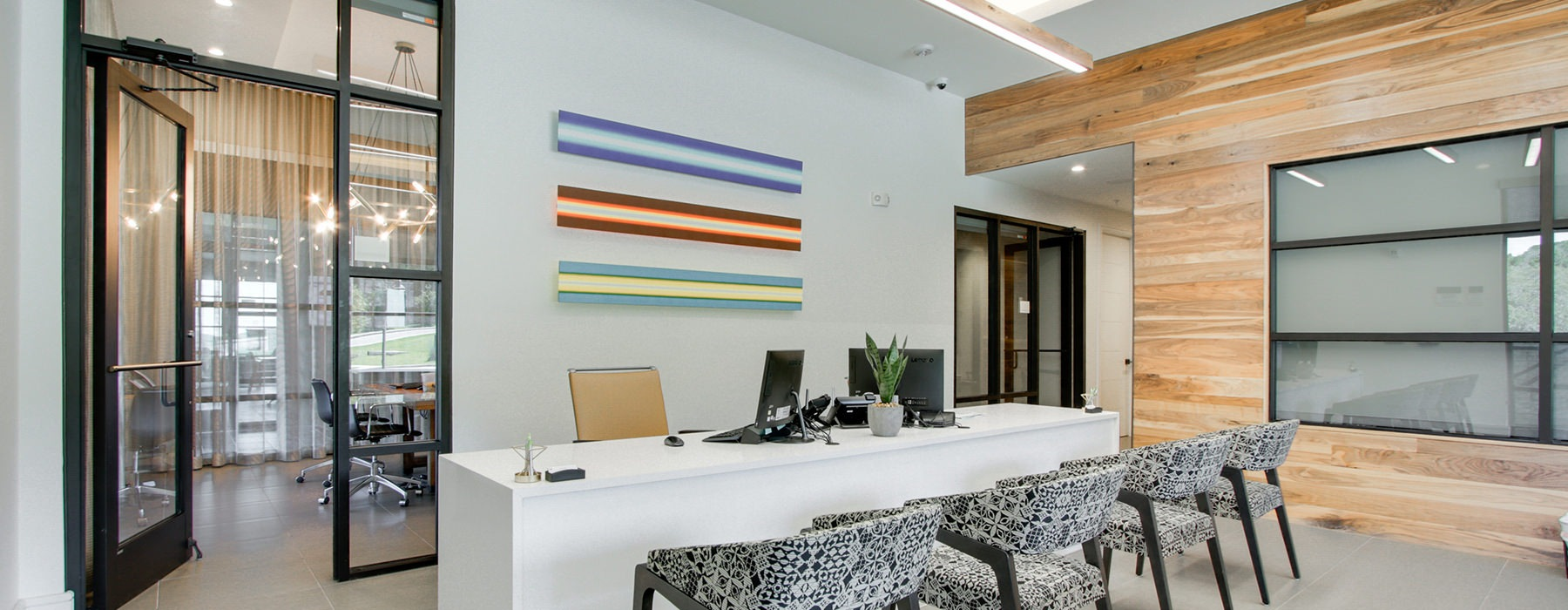 leasing office with natural lighting